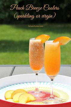 Try this peach breeze cooler recipe for a light, refreshing brunch beverage. Can be served as is or sparkled with a bit of champagne for a light cocktail.