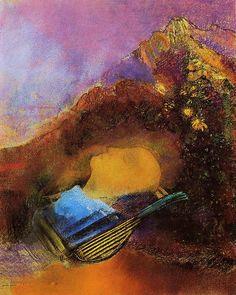 Orphée, pastel de Odilon Redon (1841-1916, France)