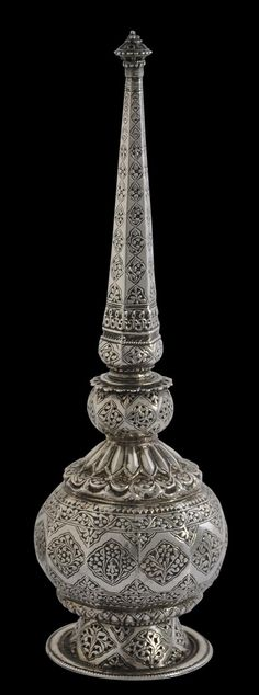 Mughal Silver Rosewater Sprinkler North India first half 17th century