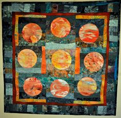 Quilted wall hanging Celestial Surprise by CreativelyKarin on Etsy