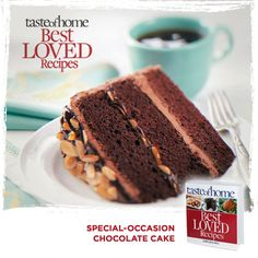 Your Best Loved Recipes: Special Occasion Chocolate Cake from the kitchen of Cindi Paulson in Anchorage, Alaska. Order your copy today of the Best Loved Recipes cookbook at http://www.tasteofhome.com/best-loved-recipes/cookbook?Keycode=BLC71VH33M  #TasteofHome #BestLovedRecipes