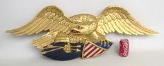 LOT #91 - Eagle Carved Plaque