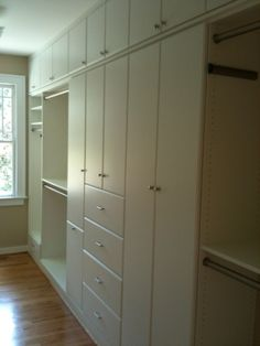 Organize your closet with ceiling to floor cabinets