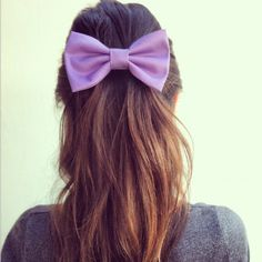 BIG Light Purple hair bow (S-N-010) ($13) ❤ liked on Polyvore featuring hair, hairstyles, hair styles, cabelos and accessories