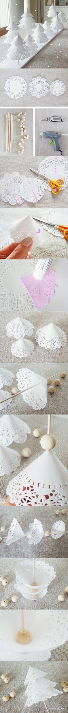 Как сделать елку из бумажных салфеток