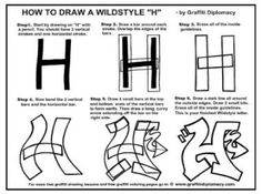 Multicultural Graffiti Art -Free Printable Coloring Pages - Free Graffiti Drawing Lessons