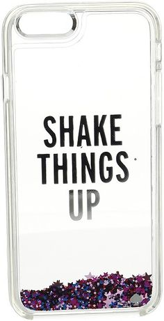 Kate Spade New York Shake Things Up Liquid Glitter Phone Case for iPhone 6 Awesome iphone 6 girly phone case, that is cute for teens, has a quote and over all a pretty unique designer phone case.