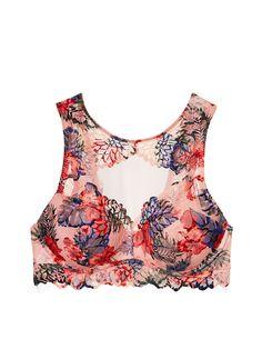 e568657591 Floral Lace High Neck Push-Up Bralette - PINK - Victoria s Secret Victoria  Secret Pink
