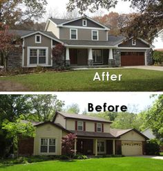 20 Home Exterior Makeover Before and After Ideas | for others ...