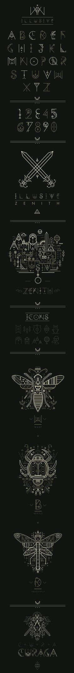 Illusive Typeface by Petros Afshar, via Behance