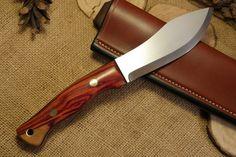 Custom Bushcraft Knife - Guide model - Tulipwood #custom #knife #survival…