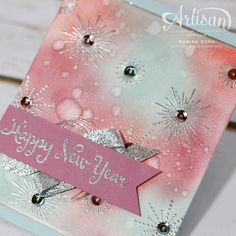 New Year's cards featuring It's a Celebration from Stampin' Up by Marisa Gunn