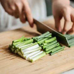알배추겉절이 - 아내의 식탁 | 프리미엄 감성 레시피로 차려진 맛있는 식탁 Bread Food, Celery, Bread Recipes, Asparagus, Vegetables, Studs, Vegetable Recipes, Veggie Food