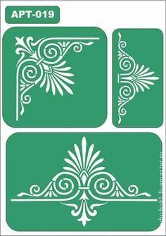 трафарет 019 - зелёный,трафарет,трафареты,Декупаж,материалы для творчества