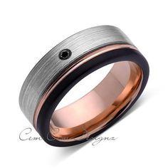 Unique Rings, Beautiful Rings, Wedding Things, Wedding Bands, Black Diamond Bands, Tungsten Carbide, Engraved Rings, Laser Engraving, Cobalt