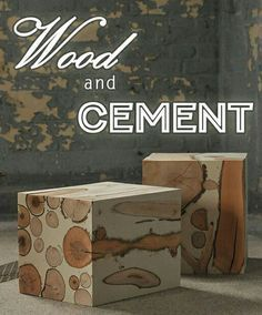 15 Easy DIY Cement and Concrete Projects - Cement Art, Concrete Crafts, Concrete Art, Concrete Projects, Concrete Design, Wood Crafts, Diy Projects, Project Ideas, Furniture Projects