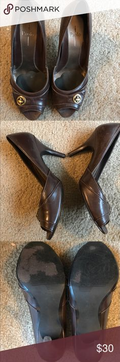 Dark brown pumps by Linea Paola size 6 1/2 Dark brown pumps by Linea Paola size 6 1/2.  Feel free to ask any questions and offers are always welcome Paolo Shoes Heels