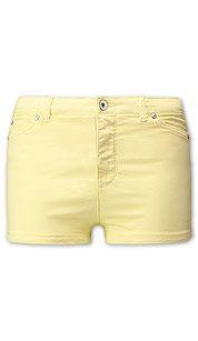 Shorts vaqueros en amarillo claro