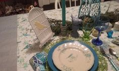 Cake Plates and Other Treasures : blue birds of Spring