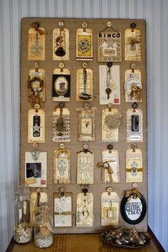The Junk Drawer Advent Calendar a great way to use those trinkets in your junk drawer plus those scrap booking supplies you have hoarded!