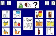 """""""Tablero de comunicación: Bebidas"""". Recopilación de diferentes tableros de comunicación de 12 casillas, organizados por necesidades básicas y centros de interés. Los tableros pueden imprimirse tal como aparecen en los documentos o bien se puede modificar el contenido, la forma, el color, etc., para adaptarlos a las características individuales de cada usuario. Pueden utilizarse también para trabajar distintos repertorios de vocabulario agrupado por temas o categorías."""