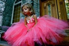 Girl Tutu Dresses! Someone says to use crochet headbands and tie the tulle thru and makes it triple layered so it's not see thru (I'd just make a small stretchy slip under) I'm considering this for SJ's 5th pictures, maybe matching for baby LG