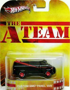 The A-TEAM Custom GMC Van 2013 Hot Wheels Premium Collectible w/Real Riders