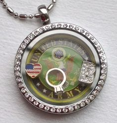 US Army, USMC and HARLEY photo discs now available! Found at www.charmingincentives.com for just $25! Living Lockets, Usmc, Pocket Watch, Accessories, Beauty, Pocket Watches, Cosmetology, Ornament