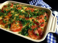 kartoffellasagne med skinke og mozzarella