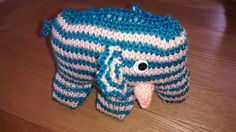 Cute knitted elephant kit from Birmingham Sewing Show