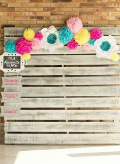 Foto 62 Photo Calls for Boda con fondos y cortinas DIY Festa Party, Diy Party, Party Ideas, Baby Shower Centerpieces, Baby Shower Decorations, Wedding Crafts, Diy Wedding, Grad Parties, Birthday Parties