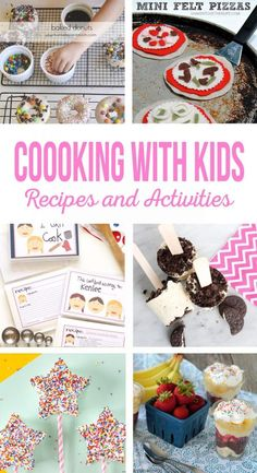 Cooking with Kids Recipes and Activities is part of Kids cookbook Cooking with Kids Let your kids help in the kitchen with these easy recipes and fun kids activities Print a kids cookbook for th - Kids Cooking Activities, Cooking With Toddlers, Cooking Classes For Kids, Baking With Kids, Fun Activities For Kids, Fun Cooking, Kids Meals, Easy Meals, Cooking School