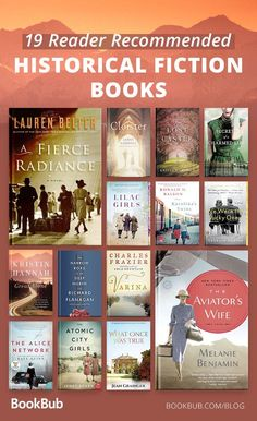 These are the 19 best reader recommended historical fiction books! Add these to your summer reading list. Featuring blockbuster bestsellers from previous years and brand-new releases we can't wait to get our hands on! Best Books To Read, I Love Books, Great Books, My Books, Books To Read In Your 20s, Music Books, Book Suggestions, Book Recommendations, Book Club Books