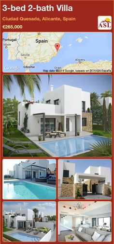 Villa for Sale in Ciudad Quesada, Alicante, Spain with 3 bedrooms, 2 bathrooms - A Spanish Life Portugal, Smart Home Technology, Alicante Spain, Underfloor Heating, Private Garden, Double Bedroom, Murcia, Stunning View, Lake View