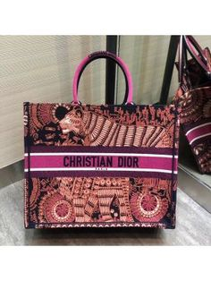 Dior book tote personalized in embroidered canvas reveal