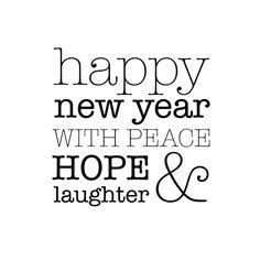 Hope & laughter nieuwjaarskaart, verkrijgbaar bij #kaartje2go voor € 1,89