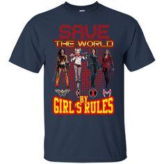 Wonder Woman Harley Quinn Black Widow Scarlet Witch Tshirts Girl s Rules Hoodies Sweatshirts