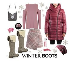 """Grey Boots"" by knitsbynat on Polyvore featuring Chicwish and Topshop"