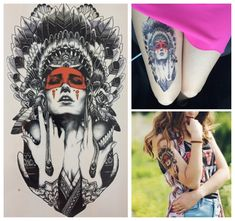 21 X 15 CM Ancient women Sexy Cool Beauty Tatoo Waterproof Hot Temporary Tattoo Stickers#110 #clothing,#shoes,#jewelry,#women,#men,#hats,#watches,#belts,#fashion,#style