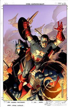 Captain America & Optimus Prime by Jim Cheung