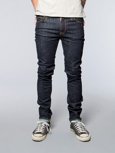 High Kai Twill Navy - Nudie Jeans Online Shop