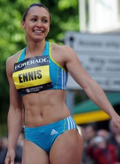 A picture of Jessica Ennis. This site is a community effort to recognize the hard work of female athletes, fitness models, and bodybuilders. Triathlon Women, Jessica Ennis, Heptathlon, Tennis, Fitness Motivation Pictures, Sporty Girls, Cycling Outfit, Track And Field, Athletic Women