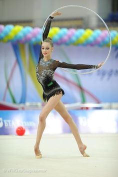 Maria Titova with hoop