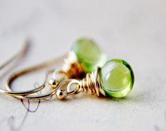 Green Peridot Earrings