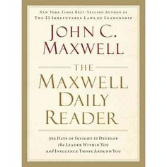 This is one of my favorite leadership reference books.  John Maxwell is a leadership icon and master teacher.  I love getting a quality thought each day from this book.    Learn to lead not just for yourself, but for the people who follow you. For countless readers around the world, his name is synonymous with leadership. And for more than two million organizational leaders, the wisdom of John C. Maxwell has ignited learning, growth, and lasting change. Now, for the first time...