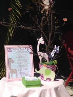 The Jungle Jill  wishing tree for a baby shower by Country Rumacakes by Tania