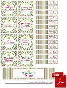 """The Purple Patch: """"Elf"""" Movie Themed Christmas Party FREE Printables!!"""
