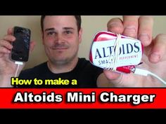 Make an Altoids Mini iPhone Charger - Emergency Survival Phone Charger Kit EDC Tin (USB Charger) - YouTube - How completely fucking awesome is this!
