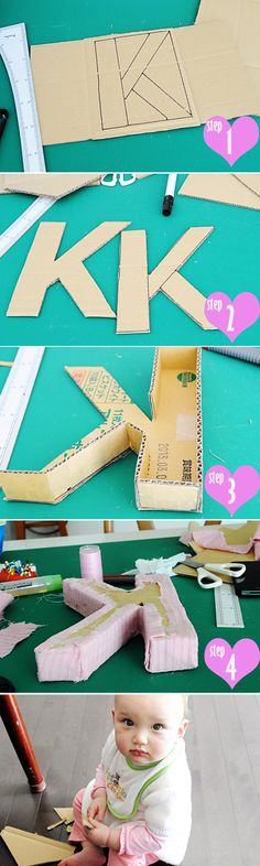 DIY Fabric Wrapped Letter for Nursery « Spearmint Baby