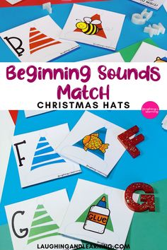 This festive hat activity is perfect for practice beginning sounds, and will make a perfect addition to any Christmas themed literacy centre! #printableactivities #preschoolactivities #literacyactivities #preschoolliteracycentre #printableliteracyactivitiy #printableliteracyactivities #education #printableactivitiesforkids  #christmasthemedactivities Christmas Activities For Kids, Printable Activities For Kids, Alphabet Activities, Literacy Activities, Literacy Centers, Educational Activities, Christmas Hat, Christmas Themes, Beginning Sounds